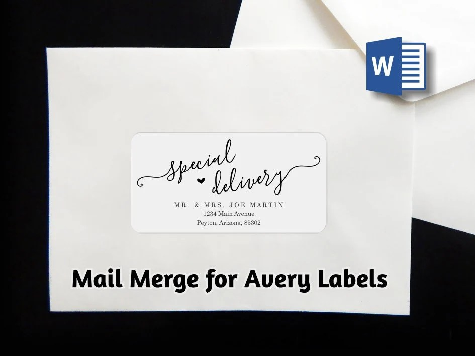 mail merge envelope label