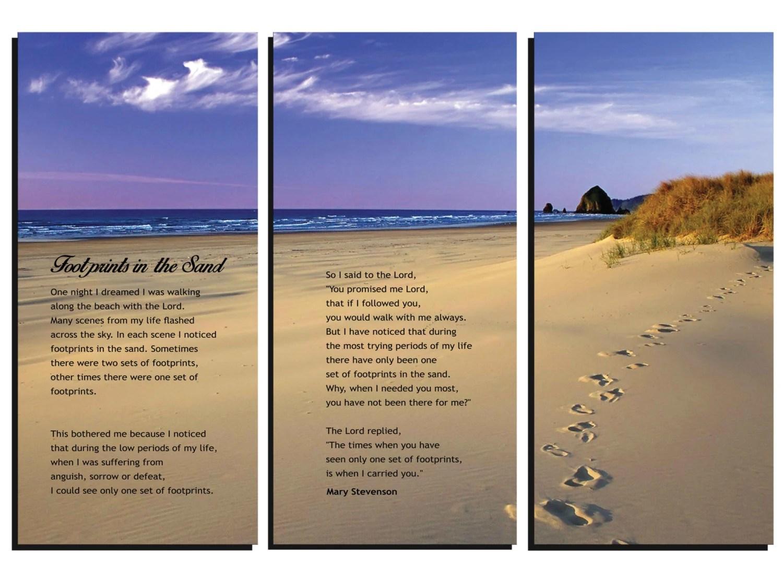 Desiderata Poem Max Ehrmann Footprints In The Sand Panel Wall Art ...