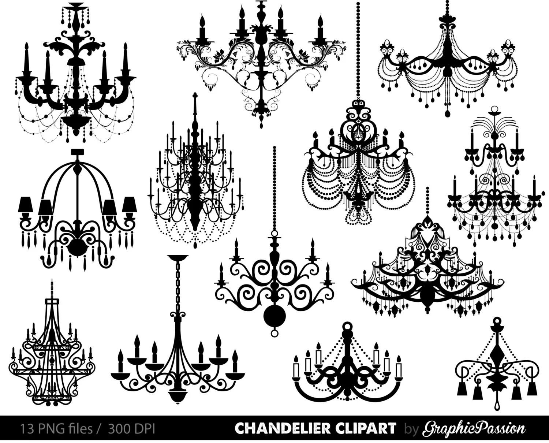 Chandelier Clip Art Scrapbooking Chandelier Clipart
