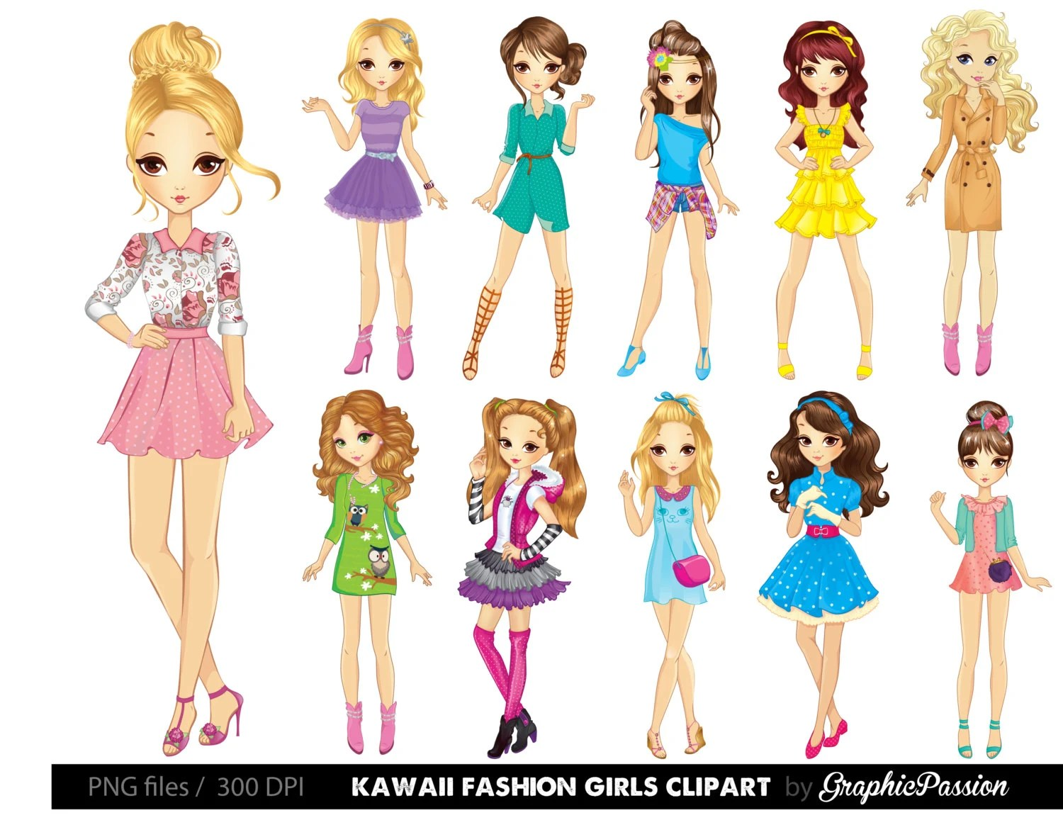 hight resolution of clipart girl