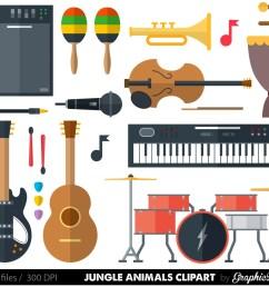 50 musical instrument clipart  [ 1500 x 1208 Pixel ]