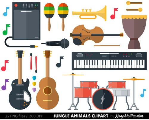 small resolution of 50 musical instrument clipart