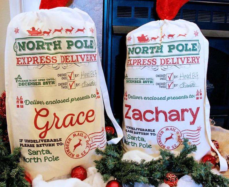 santa sack multiple sizes