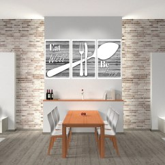 Art For Kitchen Wall Modern Tables Etsy Eat Well Be Happy Decor Print Shabby Chic