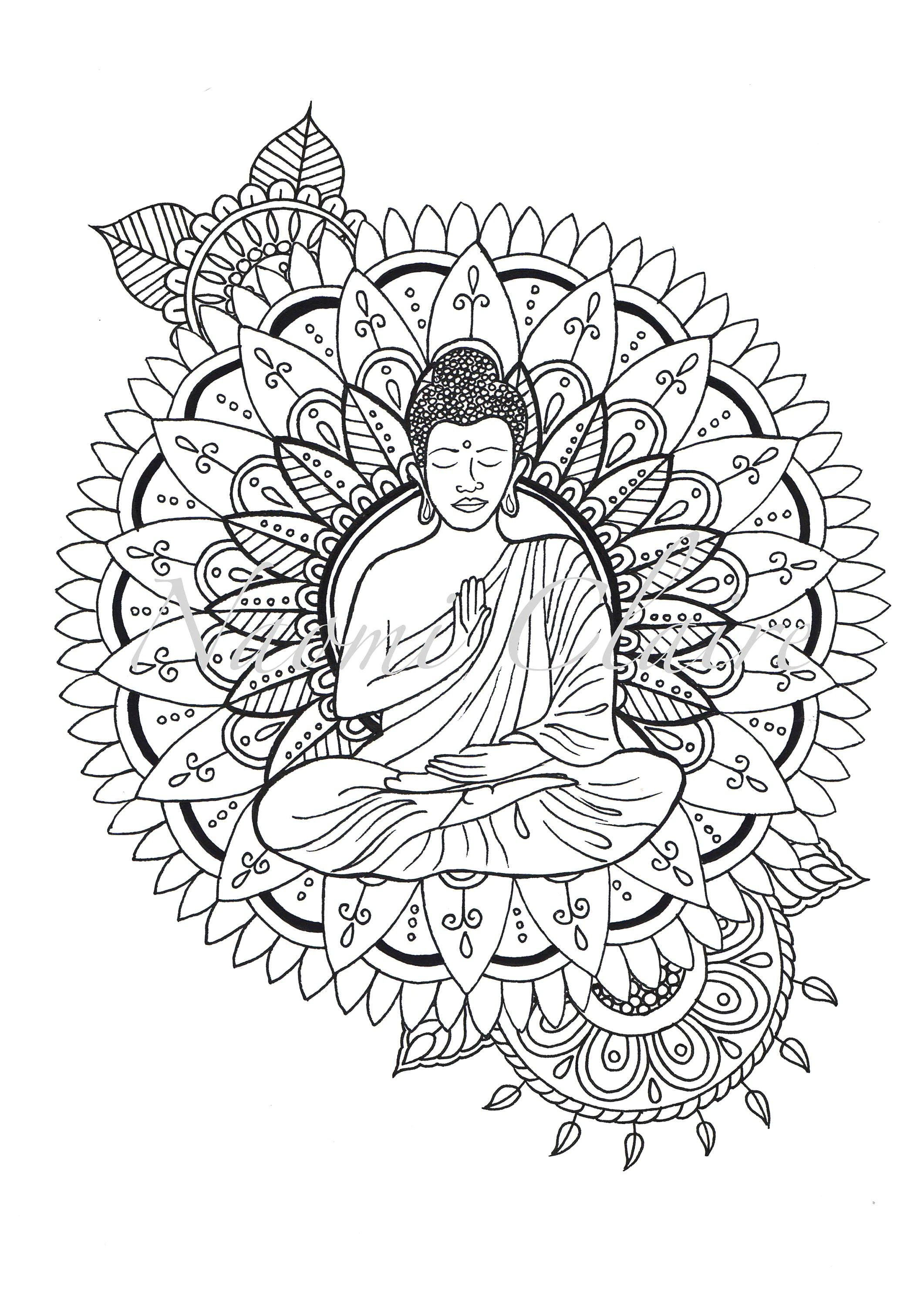 Coloring Pages Planner Mandala Calming Detailed T