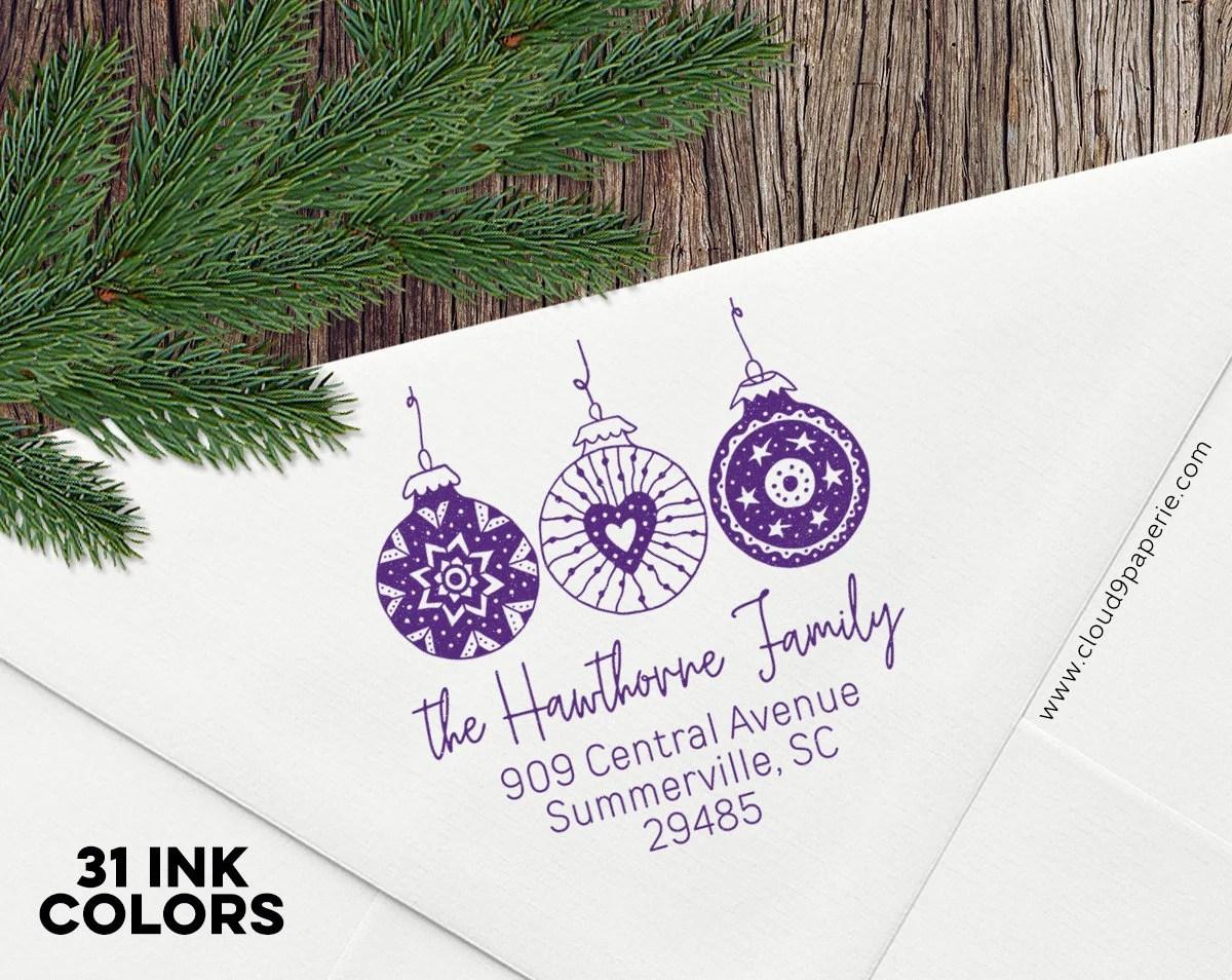 christmas address stamp self