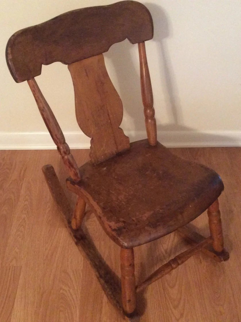 antique sewing chair stretch slipcovers nursing rocker low armless wooden victorian etsy image 0
