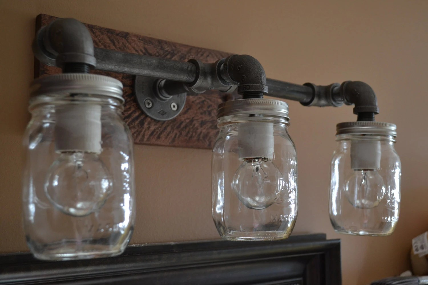 Mason Jar Bathroom Light Industrial Bathroom Vanity Mason Jar Light Vanity Lighting Bathroom Light