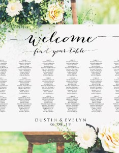 Image also welcome wedding seating chart template in four sizes  etsy rh