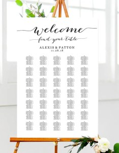 Image also welcome wedding seating chart templates four etsy rh