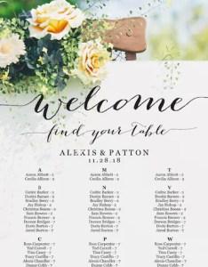 Image also seating chart wedding alphabetical etsy rh