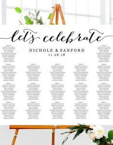 also let   celebrate seating chart template wedding table etsy rh