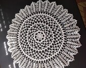 Large White Doily 19 inches