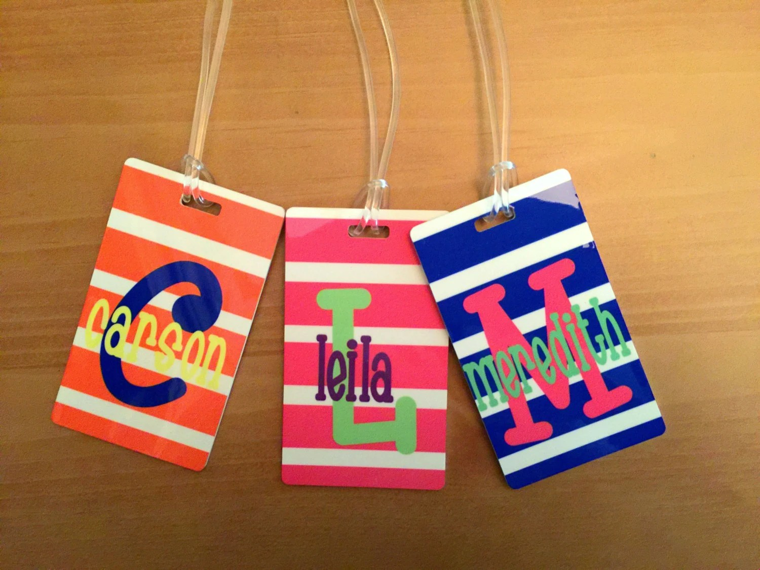 personalized kids bag tag