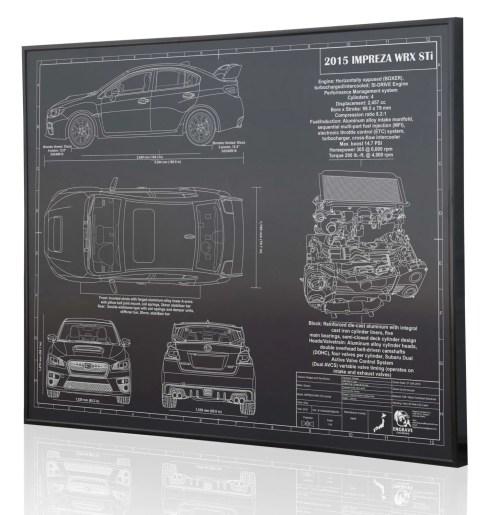 small resolution of subaru impreza 2015 wrx sti laser engraved wall art poster etsysubaru 22 liter engine diagram