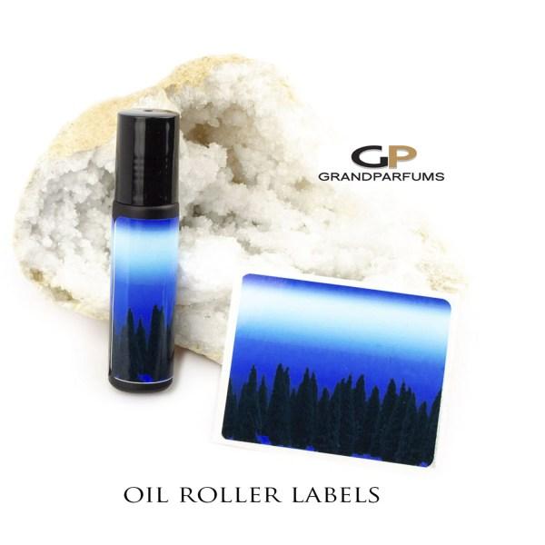Energy Modern Art Essential Oil Roller Labels Water & Resistant 10ml Bottles Glossy