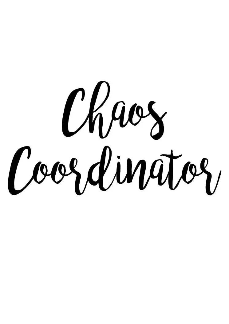 Download Chaos Coordinator SVG File Quote Cut File Silhouette File ...