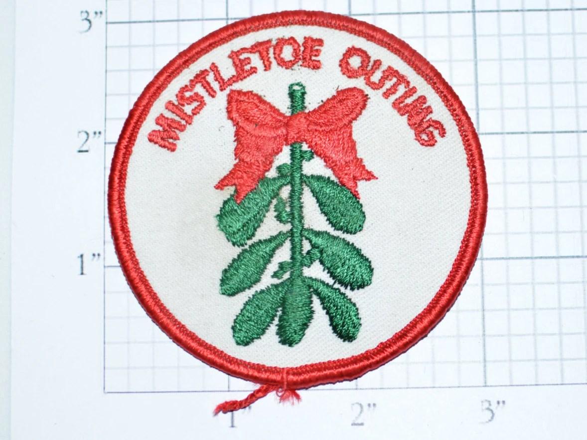 mistletoe outing iron on