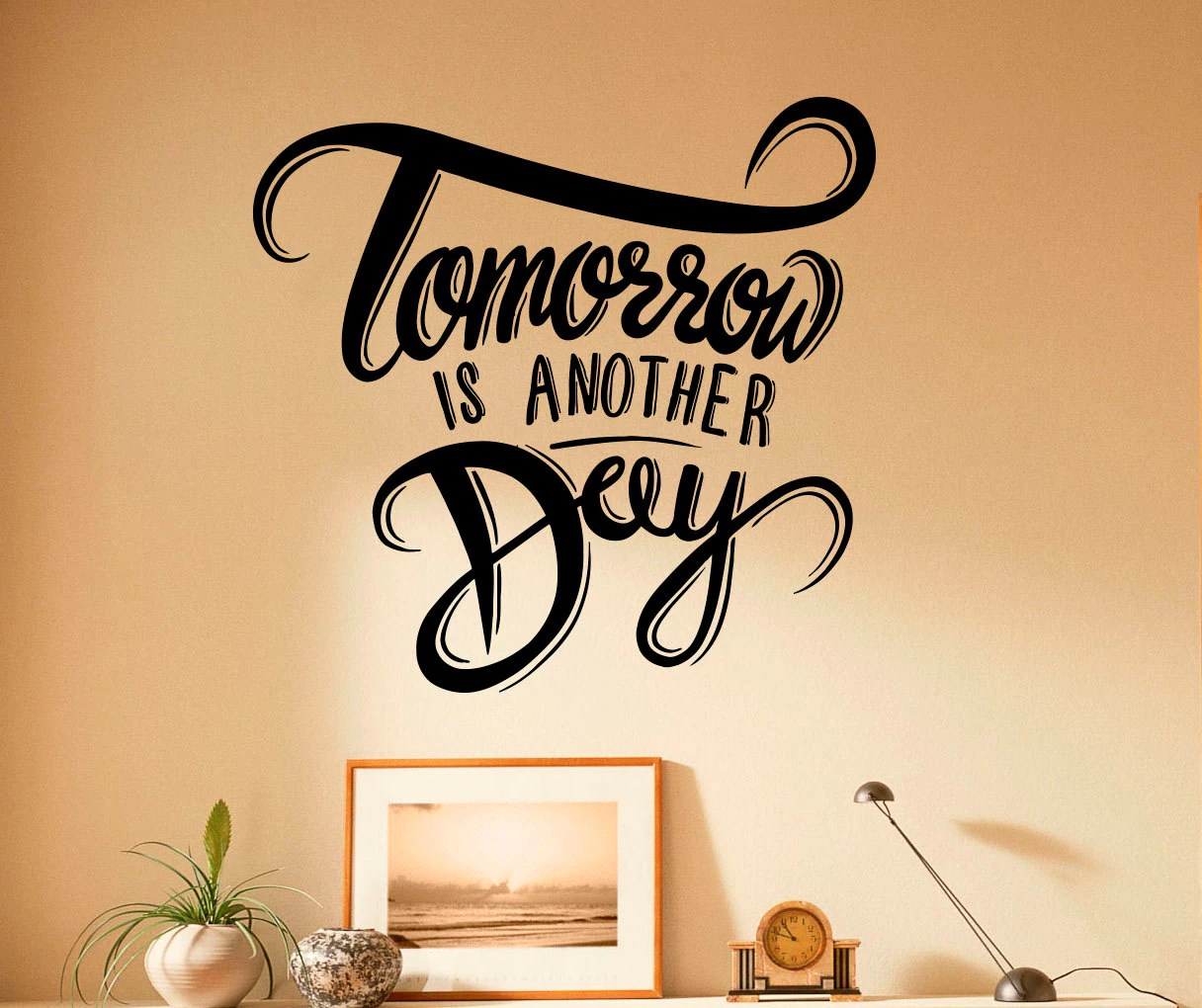 Tomorrow Is Another Day Motivation Quote Wall Decal Vinyl | Etsy