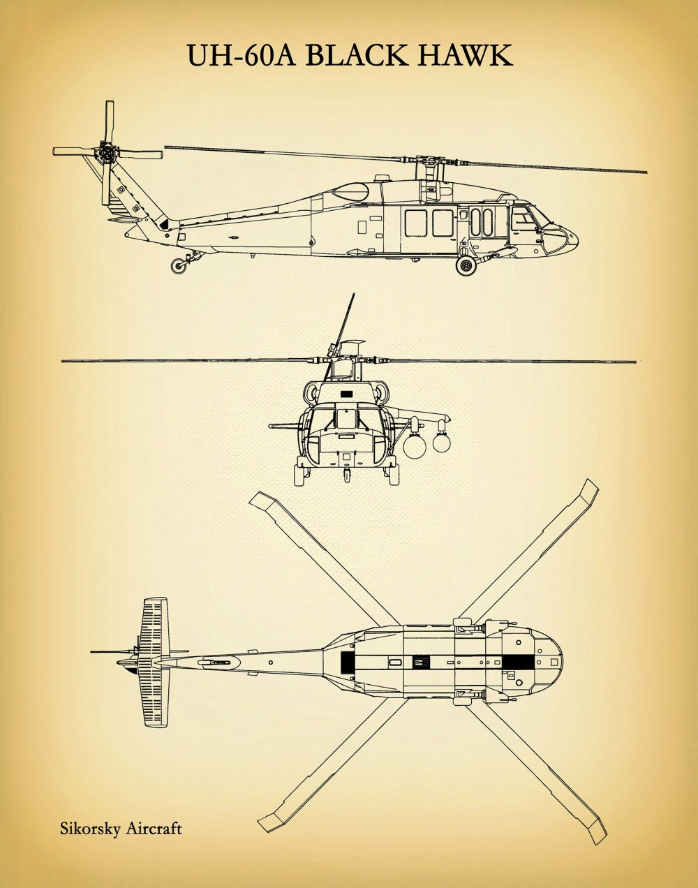 medium resolution of uh 60a black hawk helicopter art print sikorsky uh 60a helicopter blueprint chopper pilot gift sikorsky uh 60 chopper helicopter decor