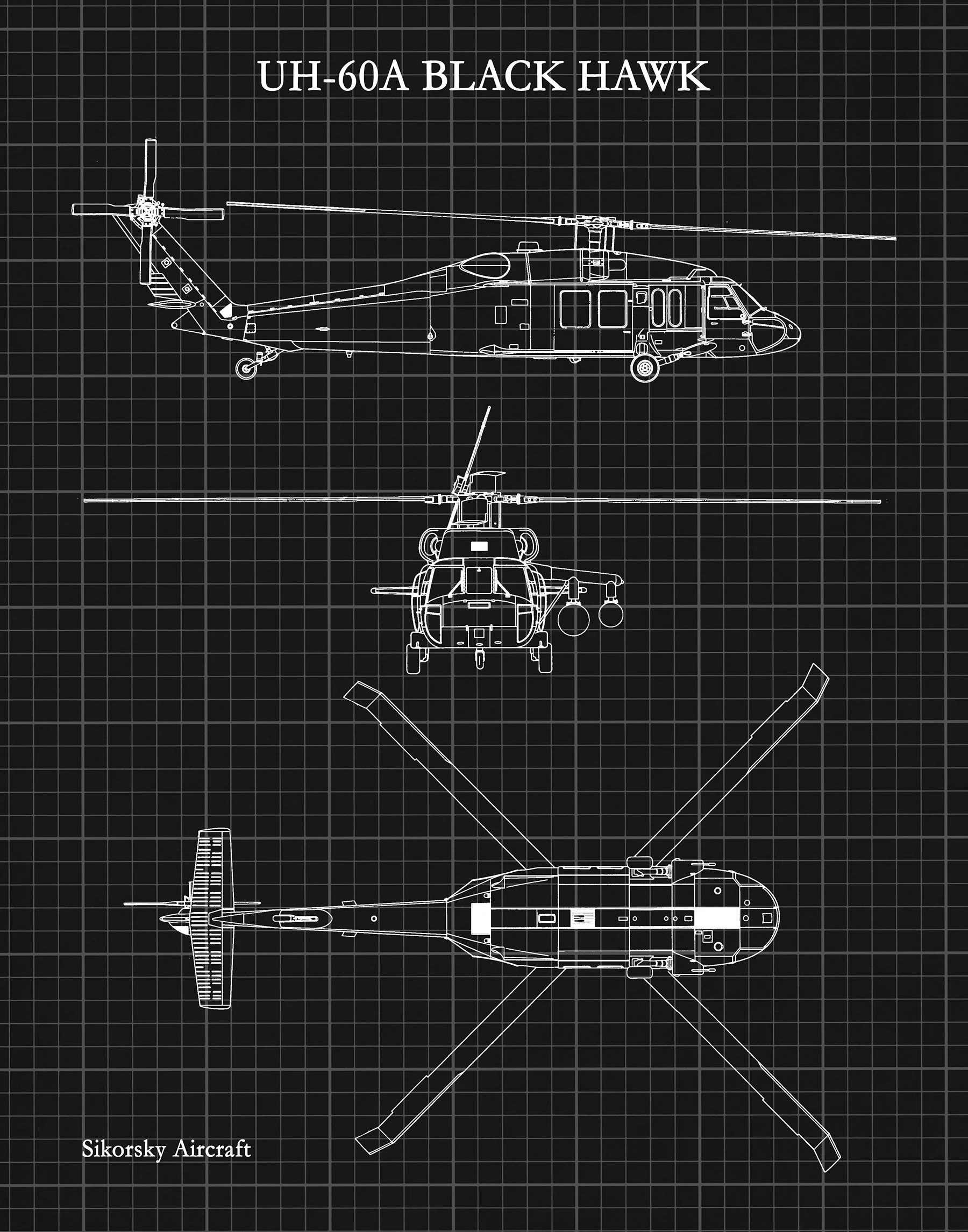 hight resolution of uh 60a black hawk helicopter art print sikorsky uh 60a helicopter blueprint chopper pilot gift sikorsky uh 60 chopper helicopter decor