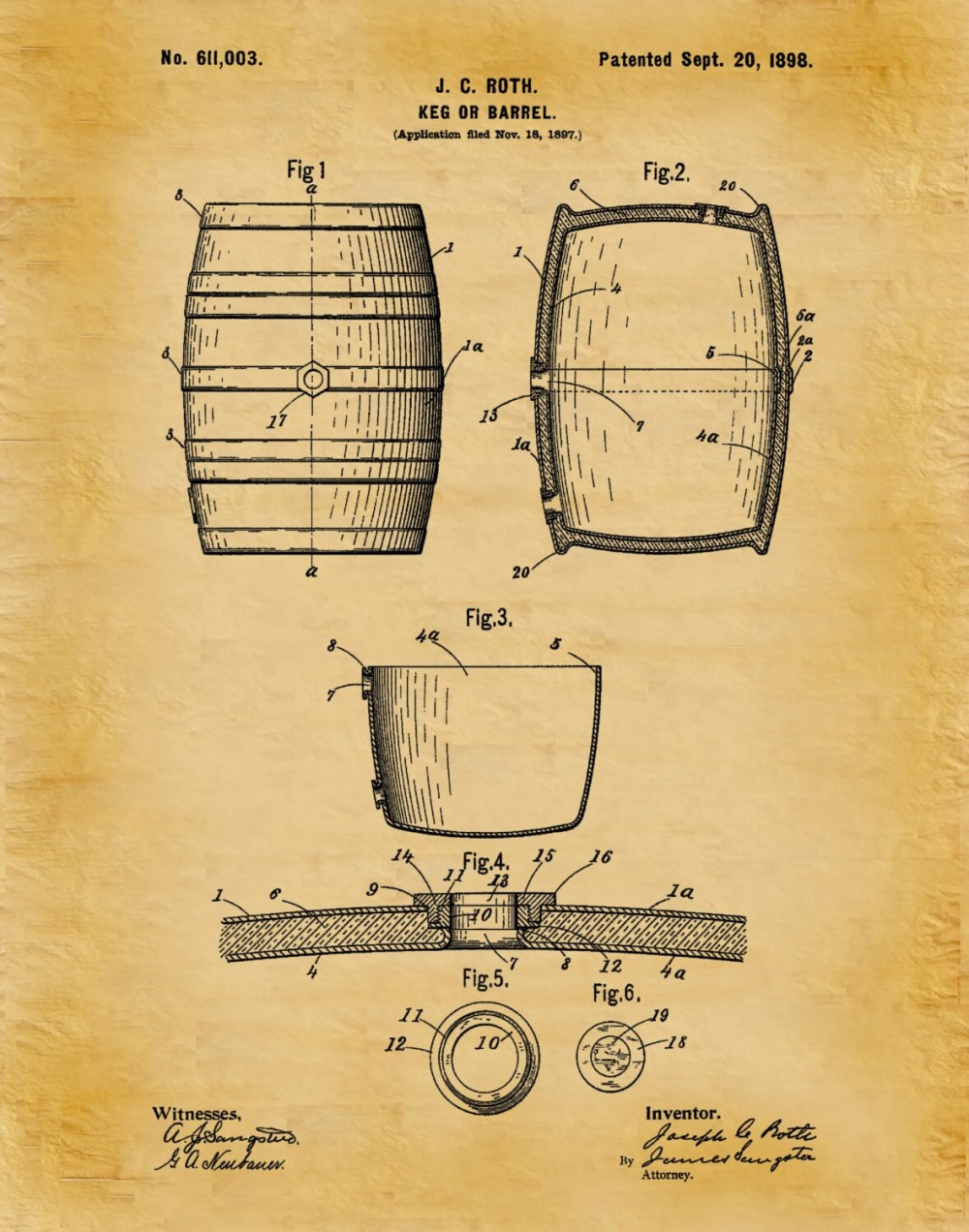 medium resolution of keg box diagram wiring diagrampatent 1898 beer barrel wine barrel beer keg art print postergallery photo