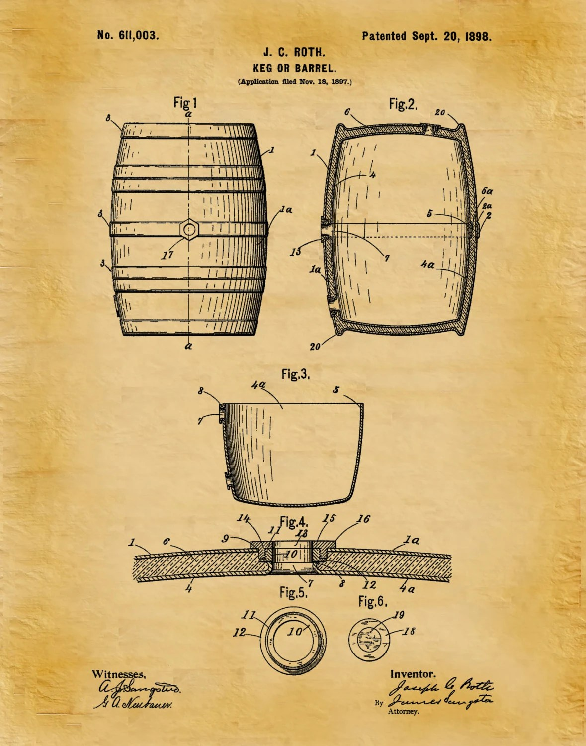 hight resolution of keg box diagram wiring diagrampatent 1898 beer barrel wine barrel beer keg art print postergallery photo
