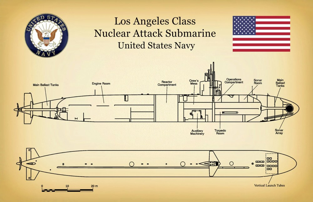 medium resolution of uss los angeles ssn 688 class submarine art print poster naval wall art war ship art military art us navy nuclear attack submarine