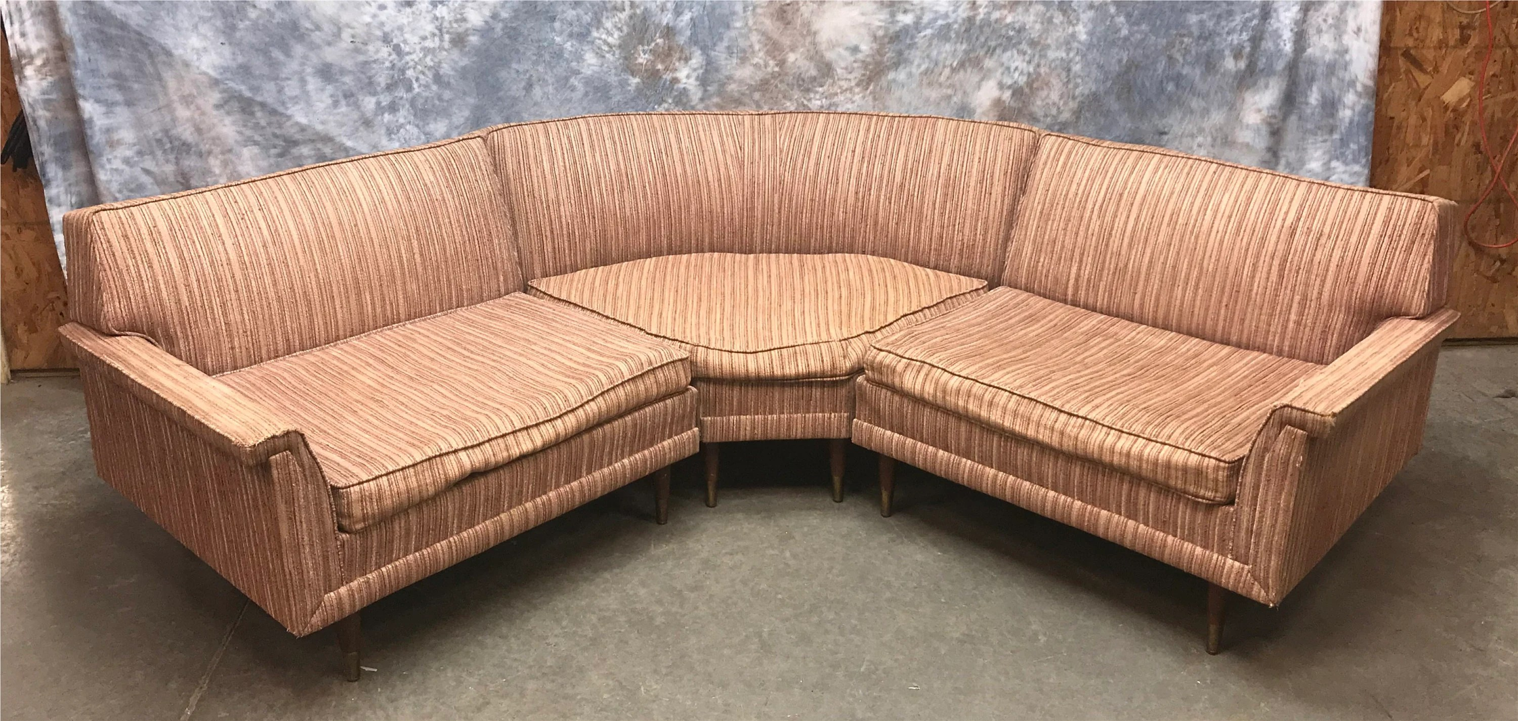sectional sofa couch michael nicholas kroehler mid century modern 3 piece etsy image 0