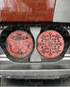 Coral Butterfly Car Coaster Set Template Etsy