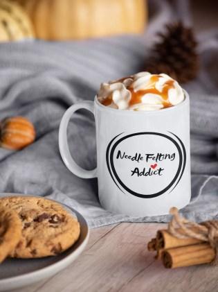 NEEDLE FELTING ADDICT Mug Perfect Present/Needle image 0