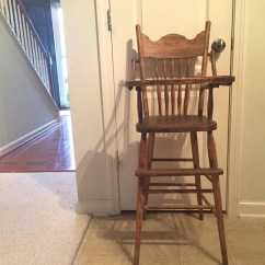 Vintage Wood High Chair Disposable Cover Singapore Etsy Late 1800 S Wooden Jenny Lind Antique Custom Painted 1st Birthd