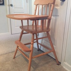 Antique High Chairs Teak Wood Revolving Chair Etsy Vintage Wooden Jenny Lind Custom Painted 1st Birthday Smashcake Bentwood