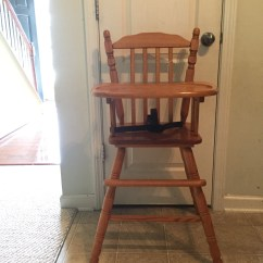 Antique Wooden High Chair Sofa Sleeper Professionally Painted Vintage Jenny Lind Etsy Highchair Wood Hi