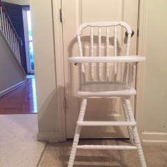 Antique High Chairs Wegner Circle Chair Etsy Professionally Painted Vintage Wooden Jenny Lind Wood Highchair White