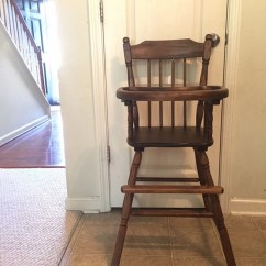 Vintage Wooden High Chair Fishing Ffxiv Fully Refinished Jenny Lind Etsy Image 0