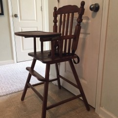 Vintage Wooden High Chair Wheelchair Wheel Covers Fully Refinished Jenny Lind Etsy Image 0