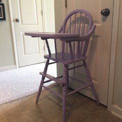 Vintage Wooden High Chair Distressed Leather Chairs Jenny Lind Antique Etsy 50