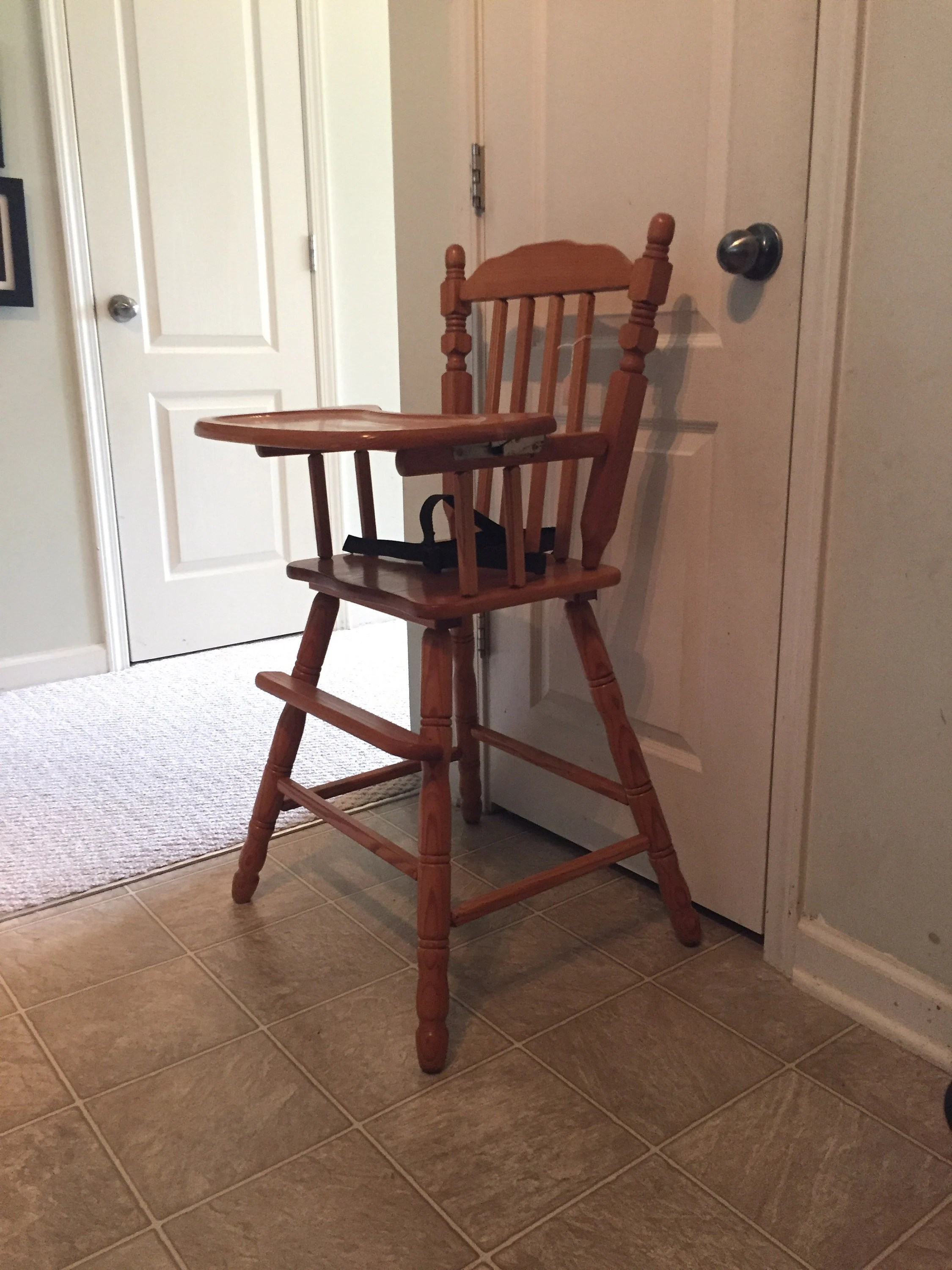 antique high chairs redo sling patio vintage wooden chair jenny lind etsy image 0