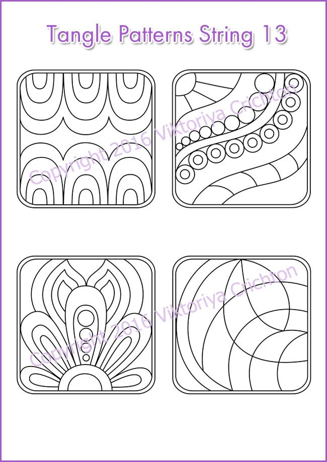 Strings for drawing zentangles_13. Zentangle starter pages