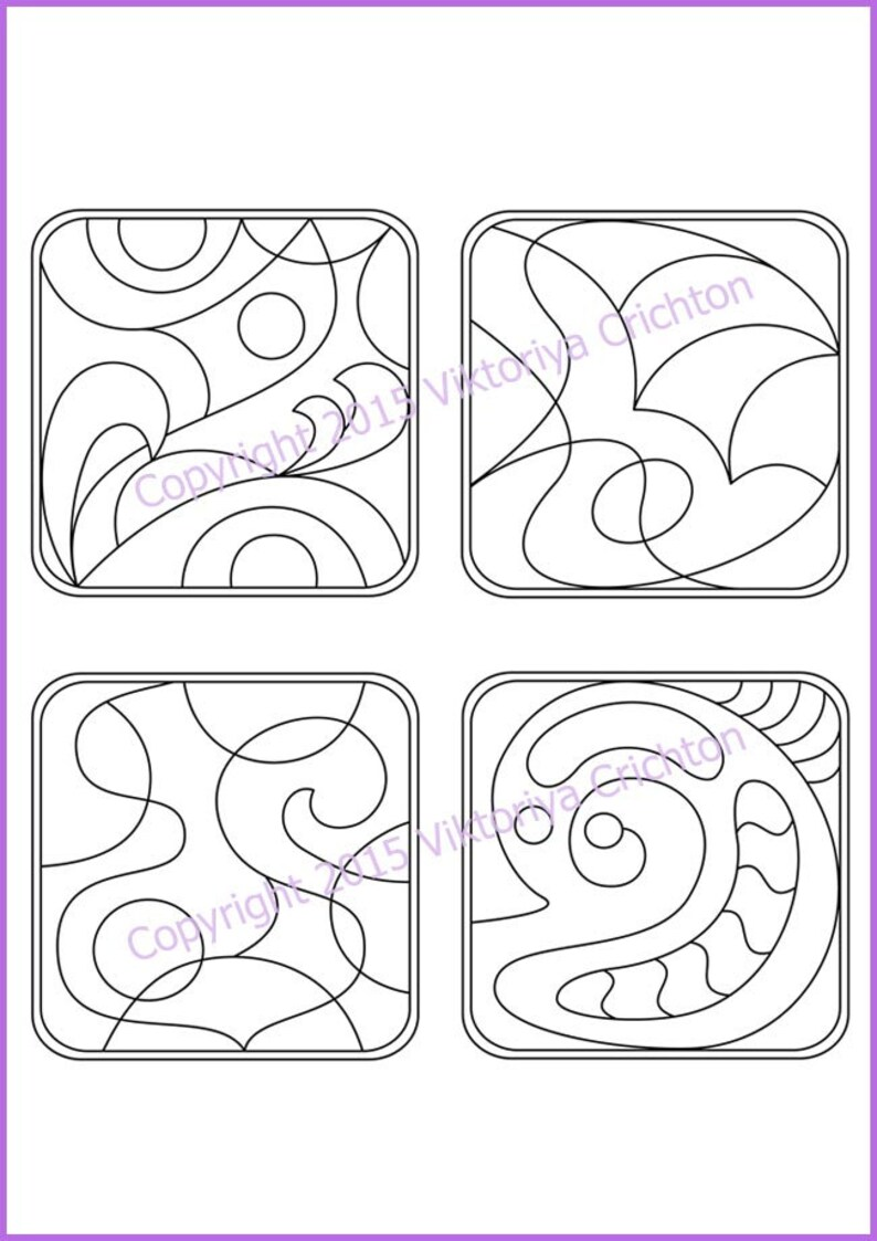 Strings for drawing zentangles 2. Tangle pattern printable