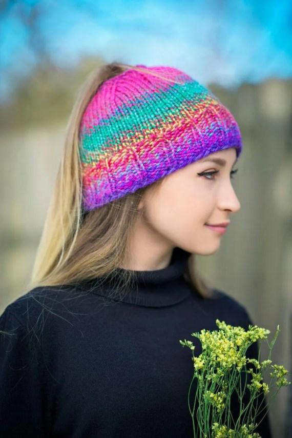 Mess Bun Hat Pattern