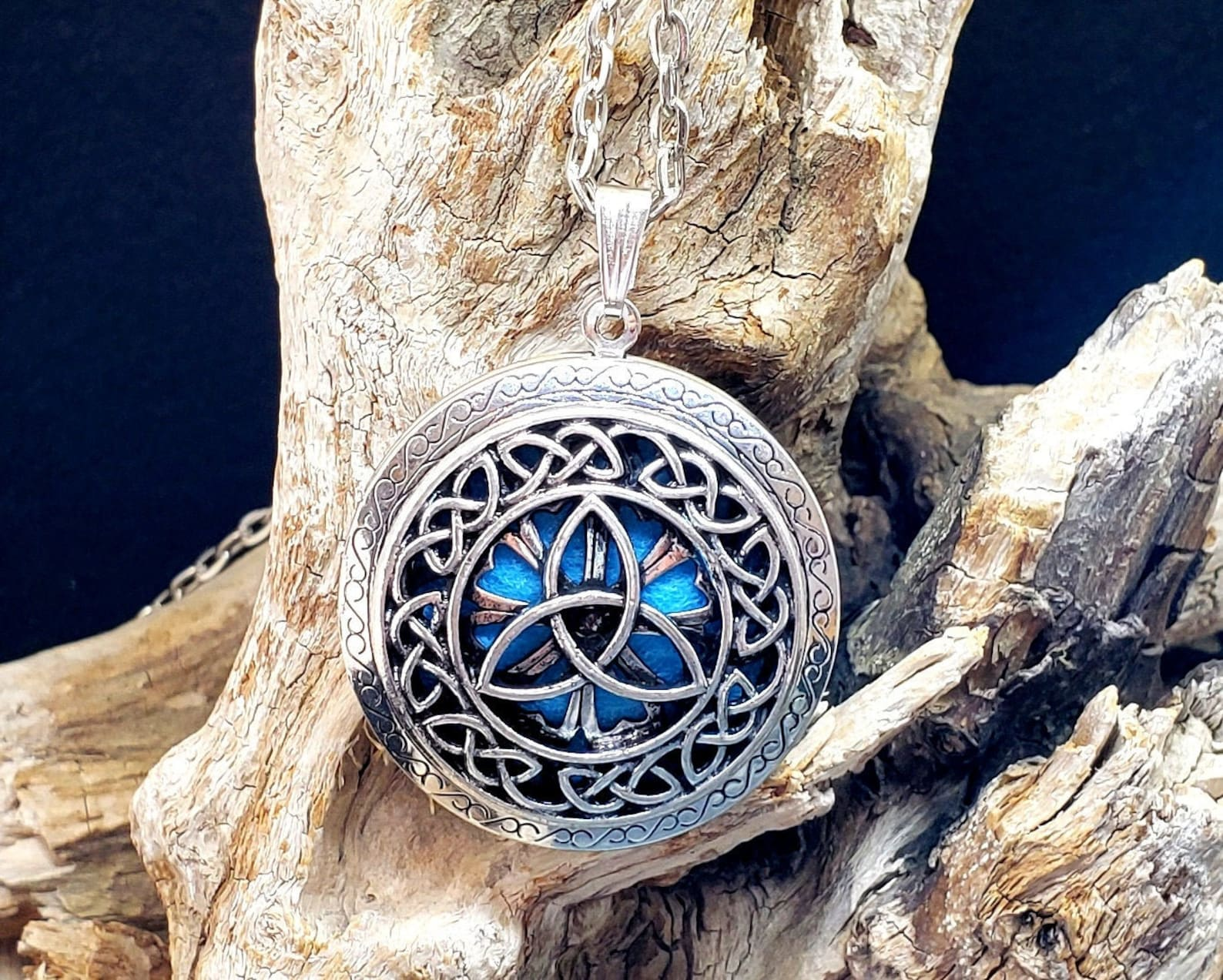 Gorgeous Celtic Knot Essential Oil Diffuser Pendant on Etsy