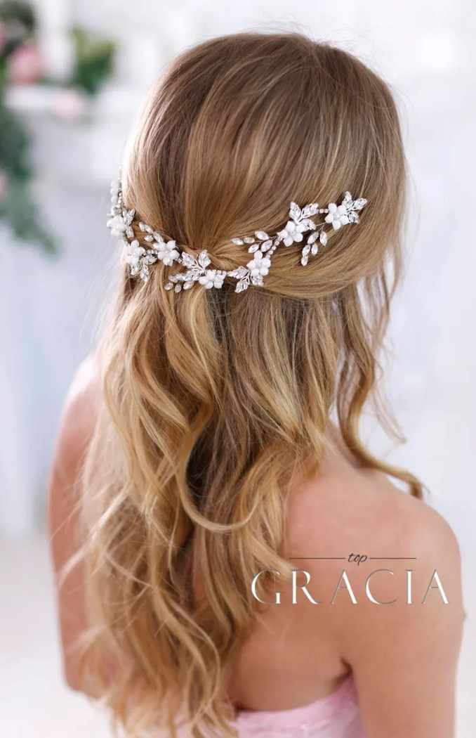 crystal headband bridal hair flowers bridal hair jewelry wedding headband wedding headpiece rhinestone headpiece crystal hair accessories