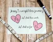 Weight Loss Journey Fridge Wipe Board