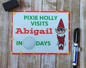 Personalised Elf Countdown Wipe Board