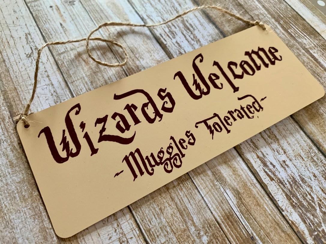 Wizards Welcome Door Plaq...