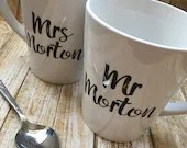 Set of 2 Mr & Mrs Persona...