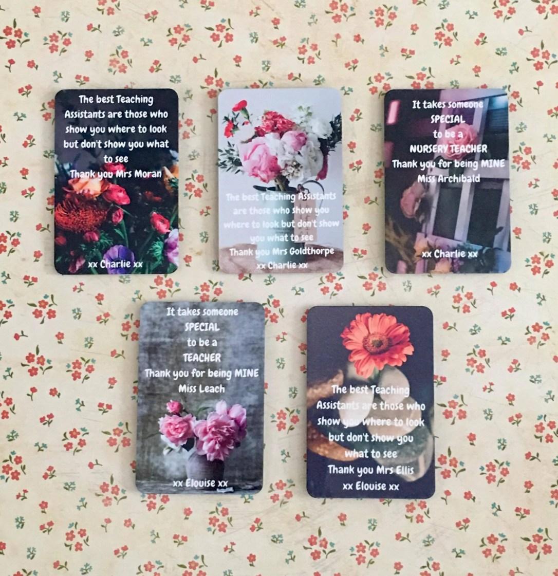 Personalised Teacher Fridge Magnet- Beautiful Message- Pretty Flowers