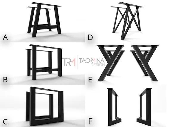 pieds de table industriel fait sur mesure metal legs customized tafelpoten bespoke industrial table legs